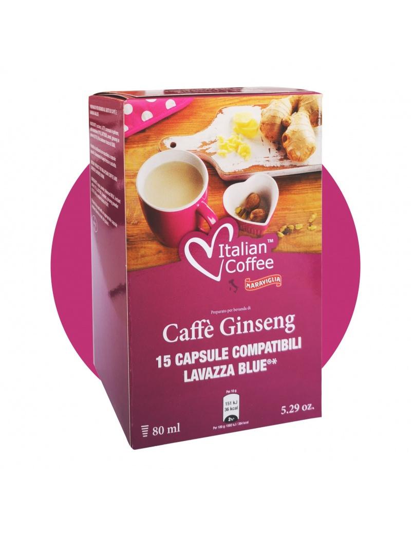 15 CAPSULE CAFFE' AL GINSENG LAVAZZA BLUE