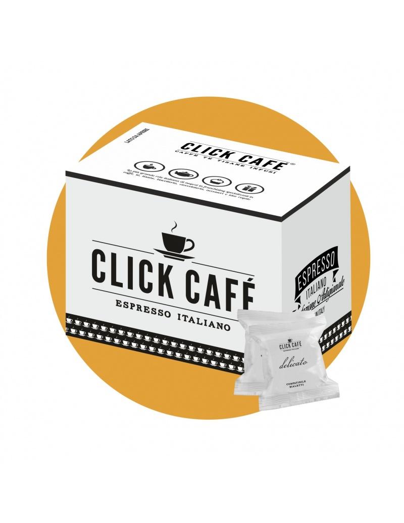 100 CAPSULE CLICK CAFE' COMPATIBILI BIALETTI DELICATO