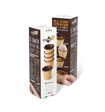 CHOCUP DI WAFER E CIOCCOLATO FONDENTE 5PZ