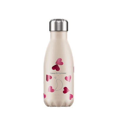 CHILLY'S BOTTLE BOTTIGLIA FONDO PERLA CON CUORI 260 ML